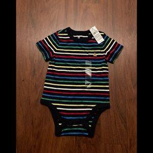 5/20$ Gap rainbow striped diaper shirt 18-24 m